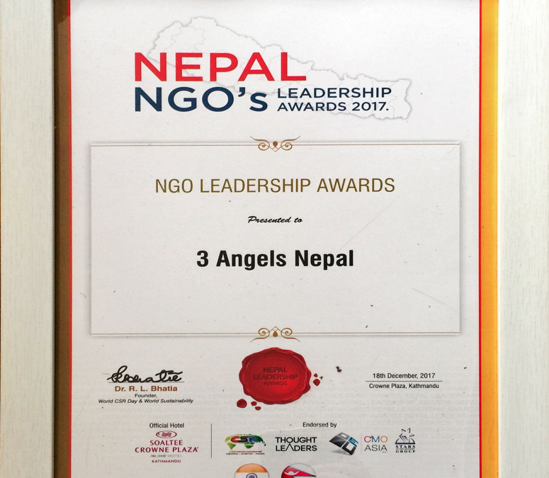 3 Angels Nepal wins International Awards
